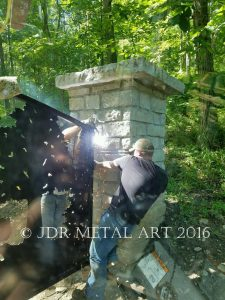 Unique Indiana Bear & Deer Driveway Gates by JDR Metal Art