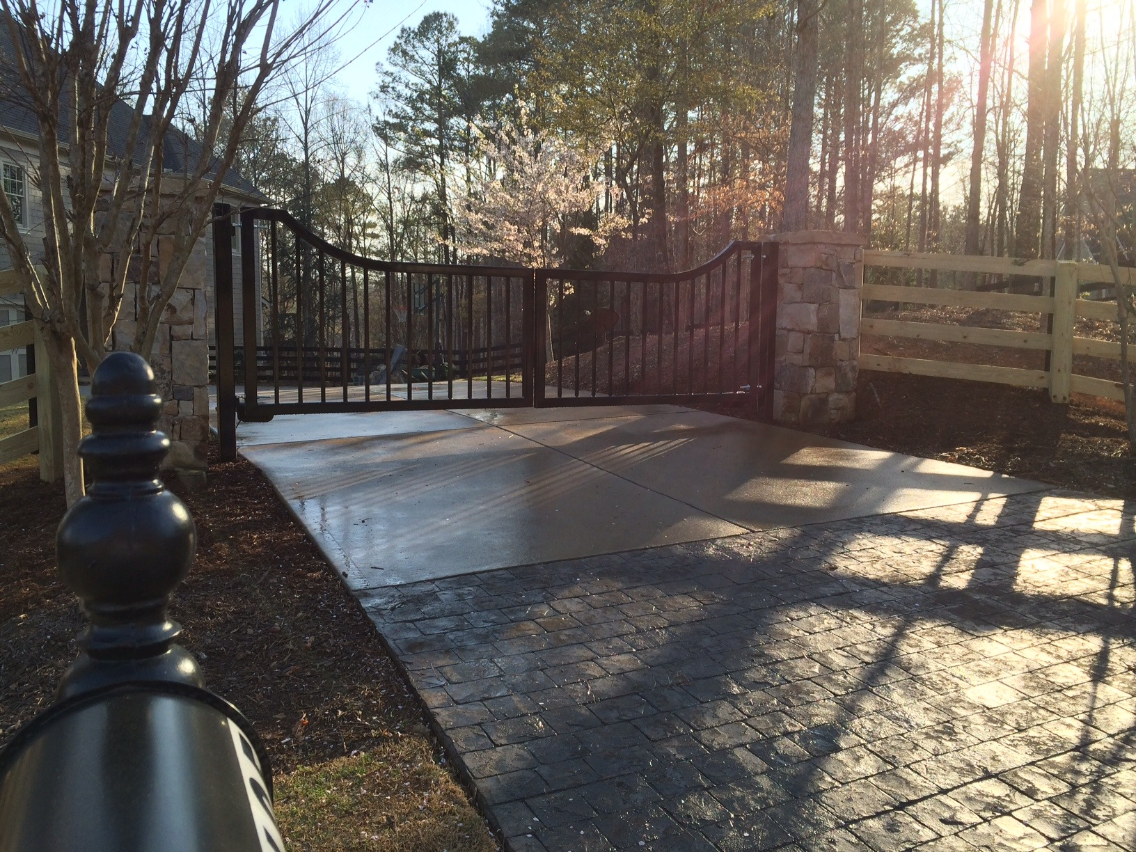 Atlanta Driveway Gates 16 Custom Dual Swing Custom