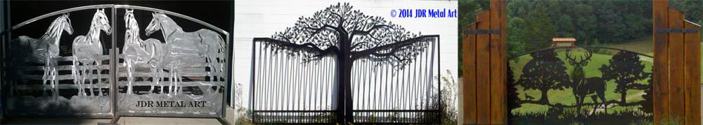 Custom Driveway Gates by JDR Metal Art