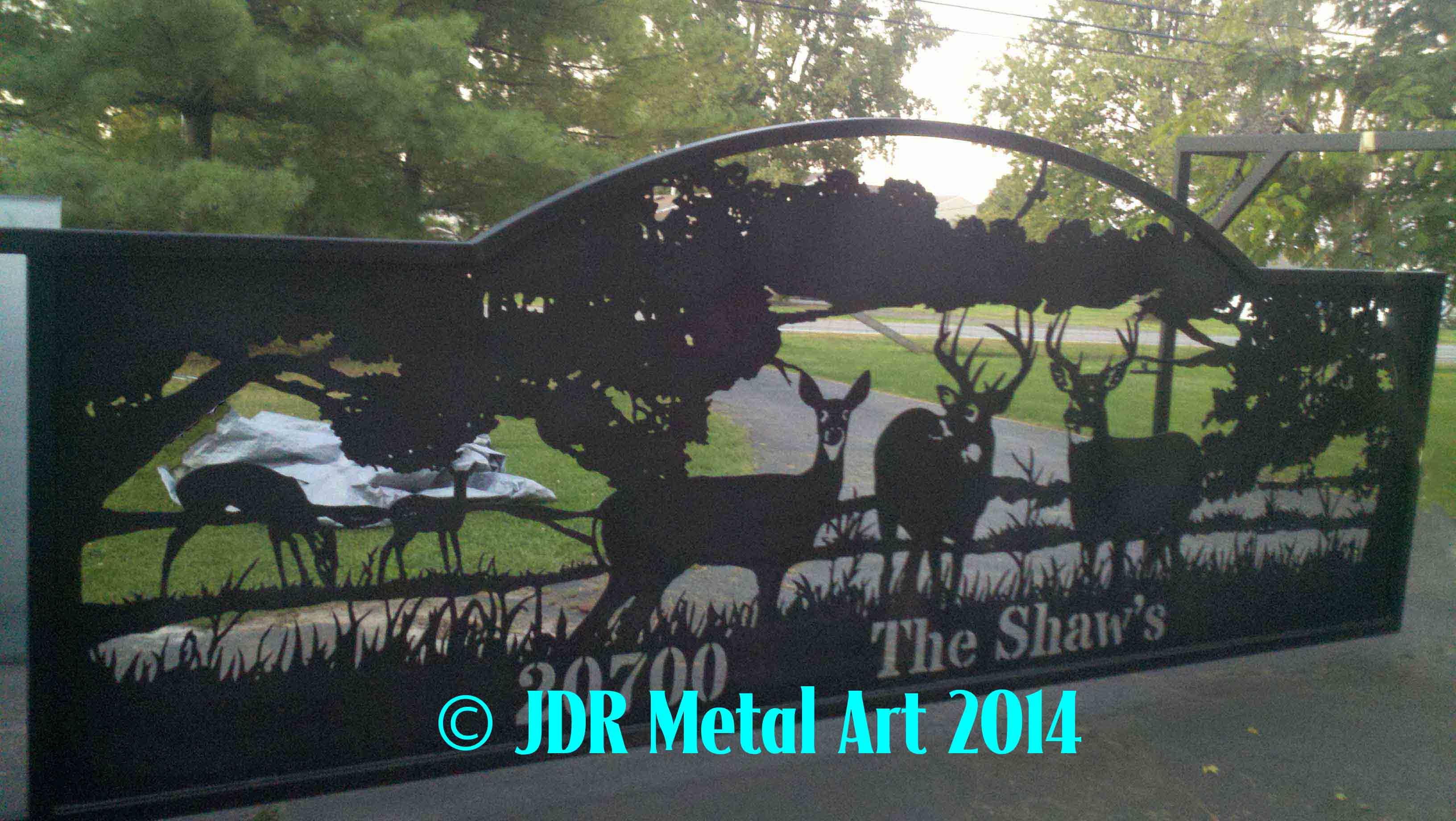 Driveway Entrance Gates By Jdr Metal Art Deer Wildlife