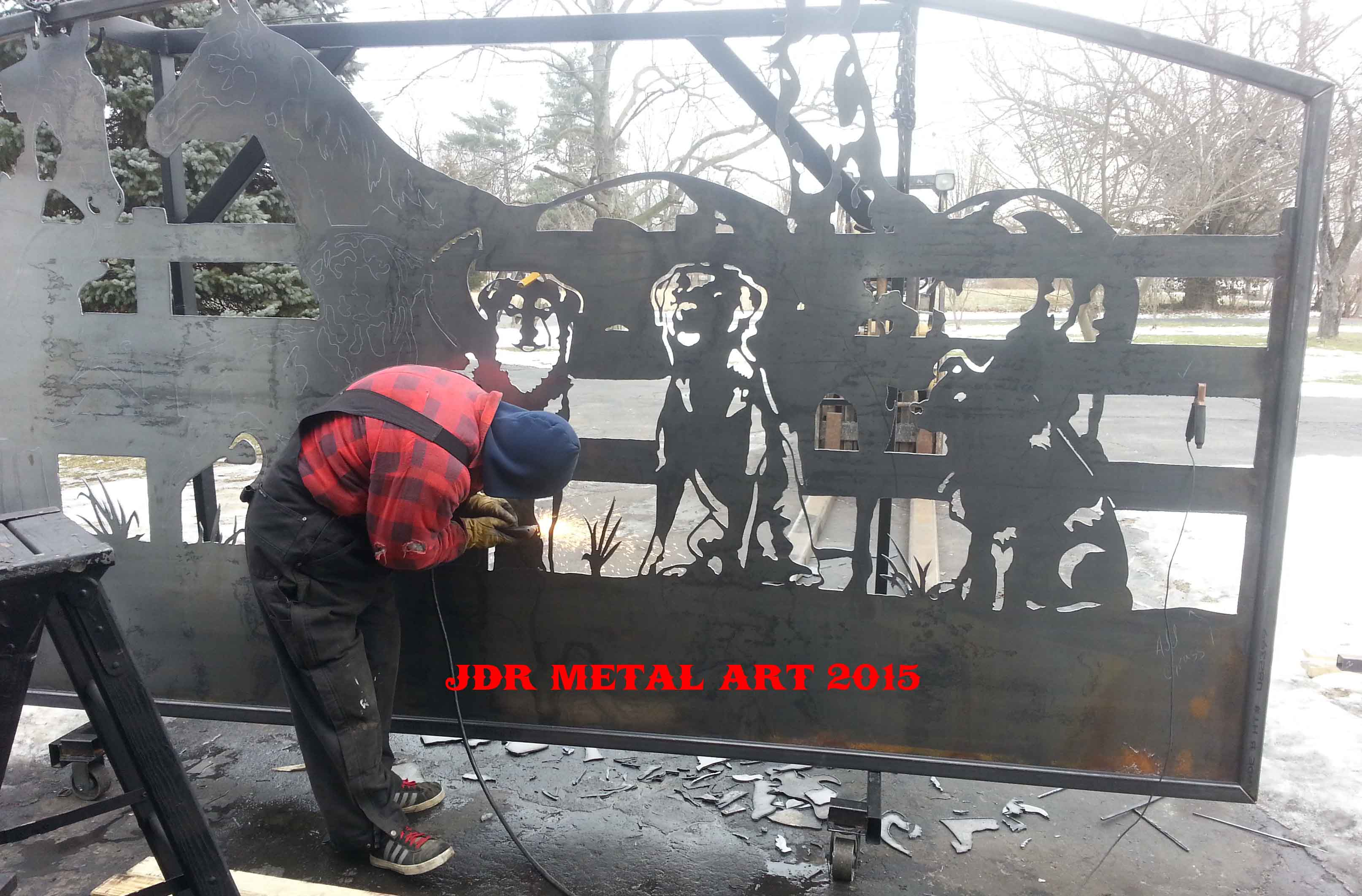 plasma cut horse gates Archives - JDR Metal Art: America's Custom Gate ...