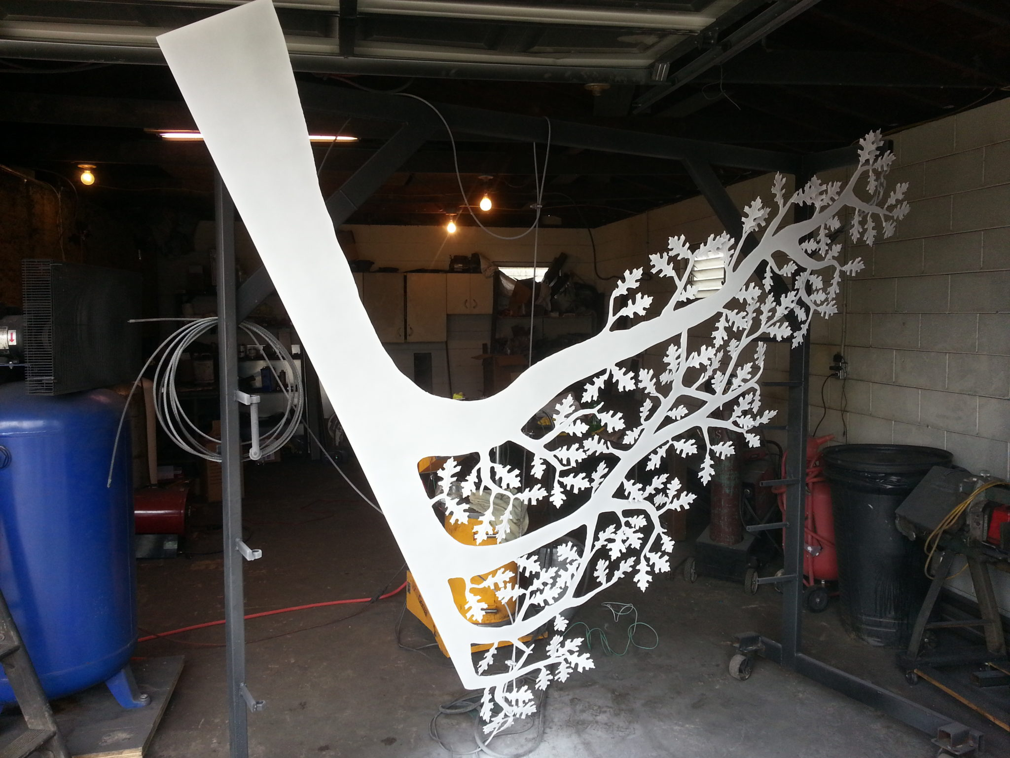 JDR Metal Art Tree with Clear Coat before bake