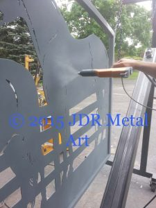 louisiana plasma cut gates by jdr metal art 2015 spraying zinc rich primer powder coat
