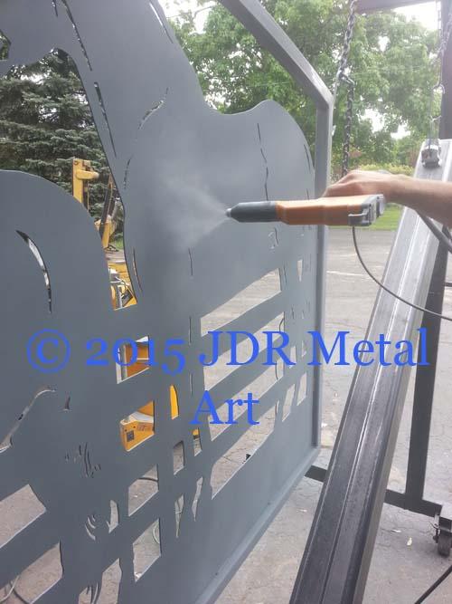 louisiana plasma cut gates by jdr metal art 2015 spraying zinc rich primer powder coat