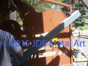 louisiana plasma cut gate powder coated copper by jdr metal art 2015