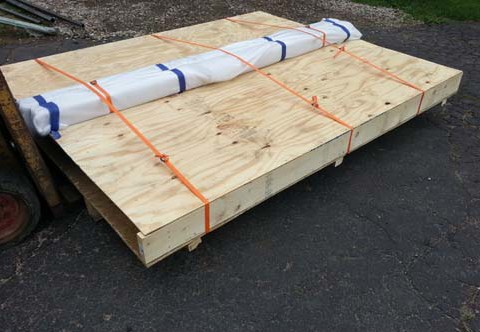 Driveway gate crate for shipping via freight.