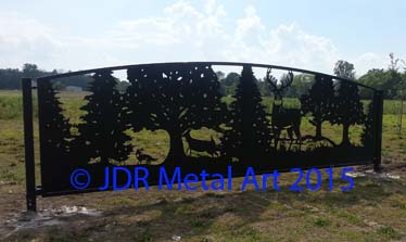 Columbus Ohio drive gates by JDR Metal Art