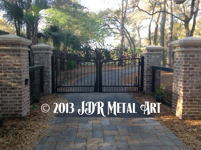Charleston South Carolina Driveway Gates by JDR Metal Art 2013