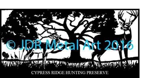 Driveway Gate Designs by JDR Metal Art Deer Turkeys Antelope