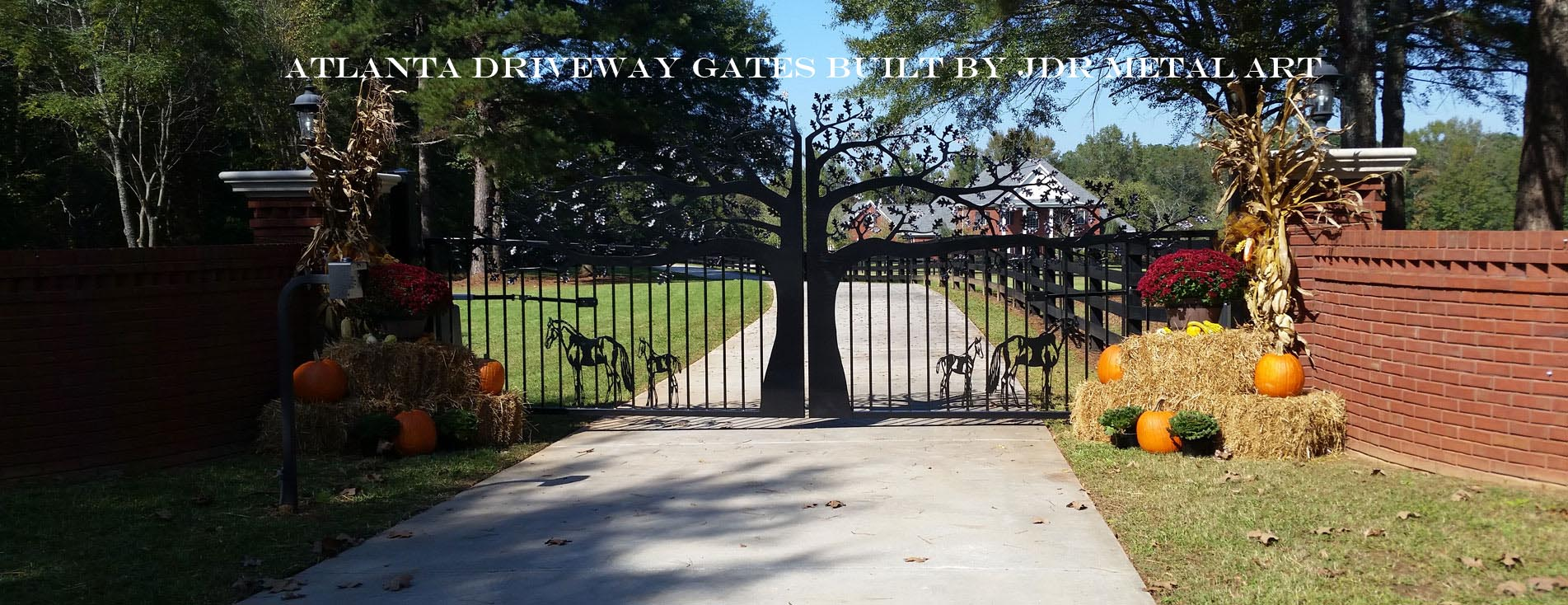 Atlanta ornamental driveway gates