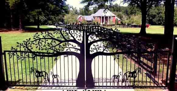 Ornamental Custom Driveway Gates