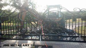 Installing wrought iron driveway gate