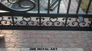 Plasma cut gate design scrollwork