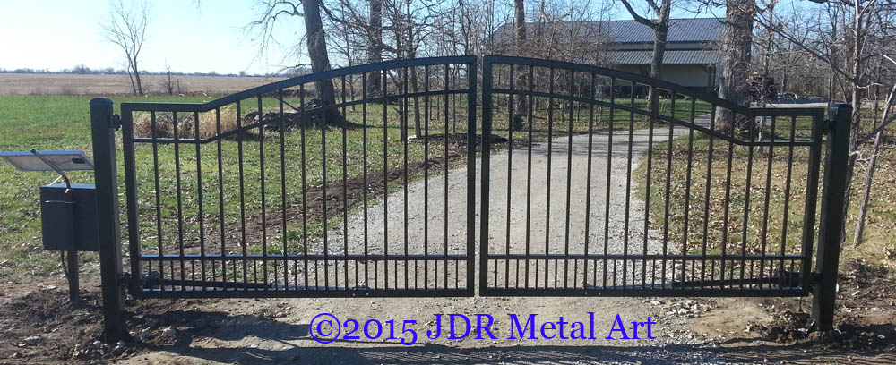 Nationwide custom driveway gates jdr metal art for Aluminum driveway gates prices