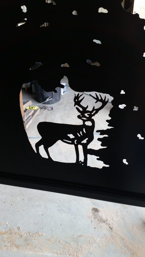 Deer silhouette for custom entry gate.