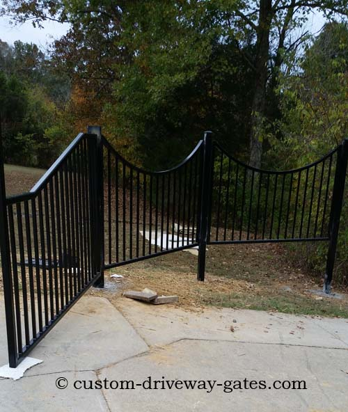 Louisville, KY fence built and installed by JDR Metal Art.