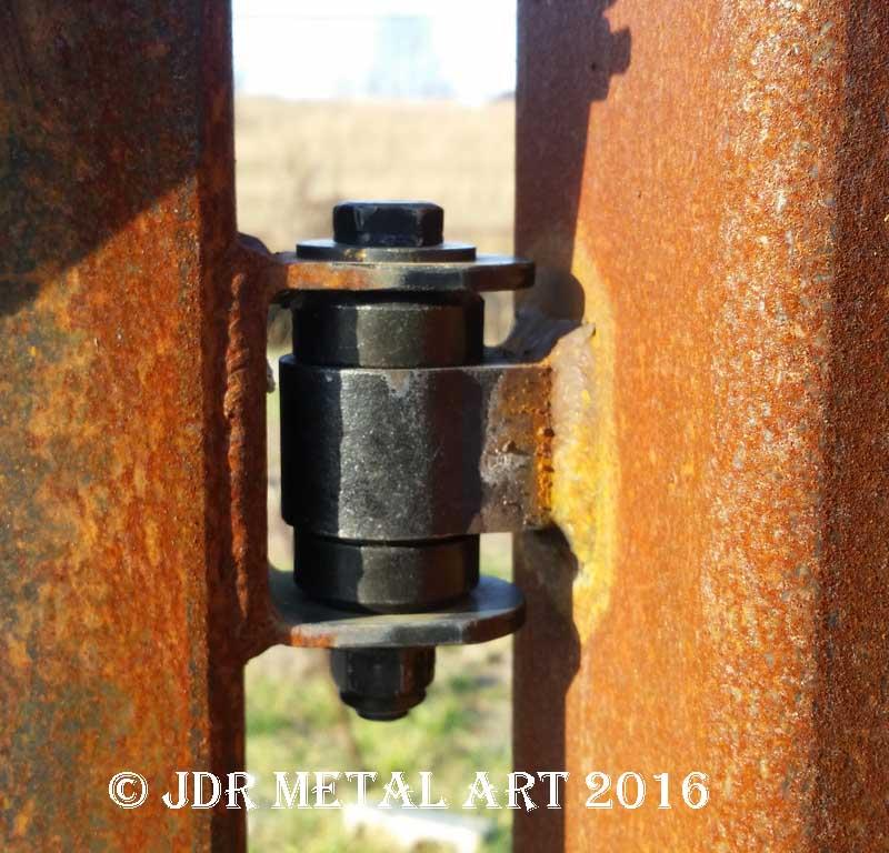 rusty gate hinges