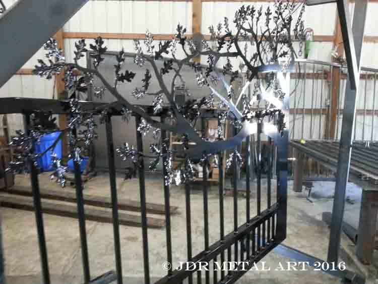 Powder coated ornamental tree gates by JDR Metal Art 1
