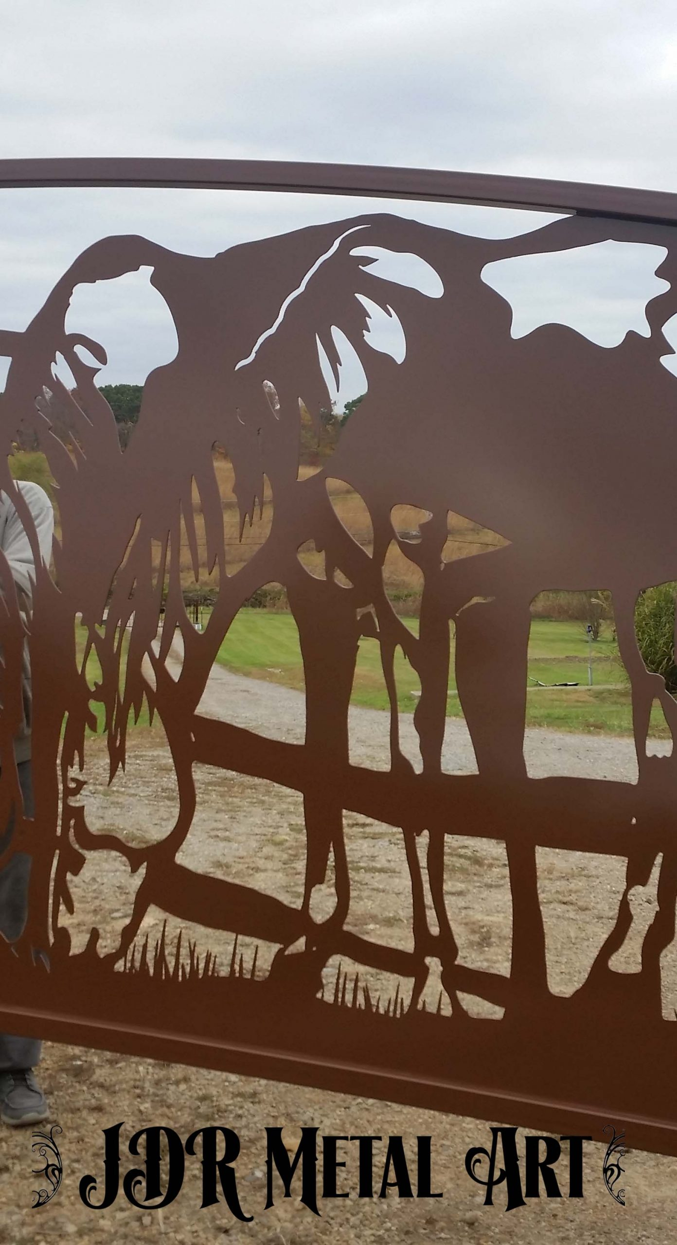 Horse design for TX ranch gate by JDR MEtal Art April 2020 scaled