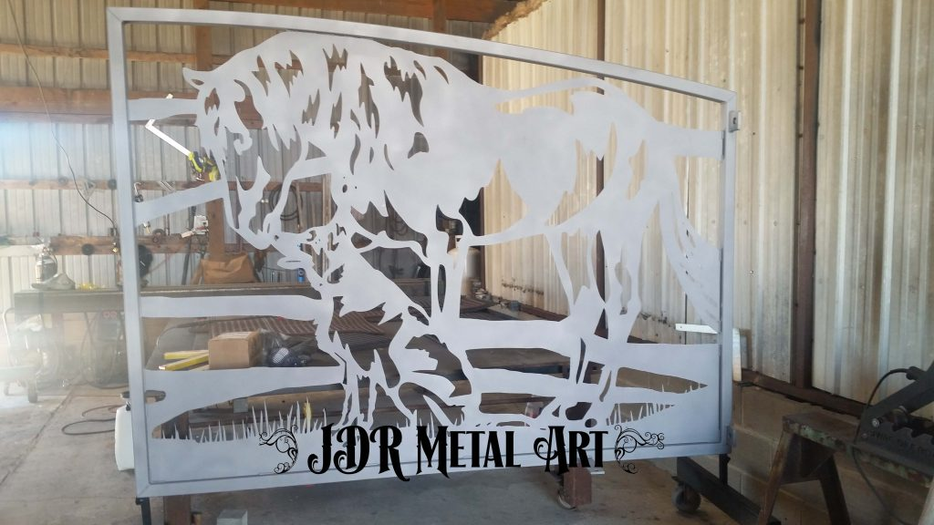 Texas Ranch Gates with Horses JDR Metal Art 2020 2