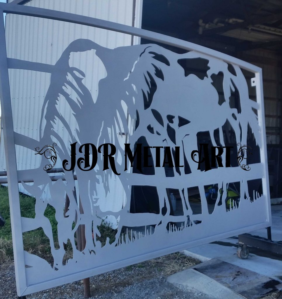 Texas Ranch Gates with Horses JDR Metal Art 2020