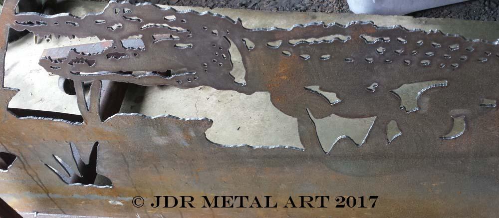 alligator themed driveway gate by jdr metal art 2017