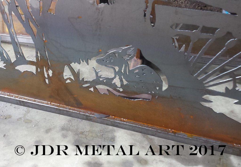 deer fawn driveway gate by jdr metal art 2017