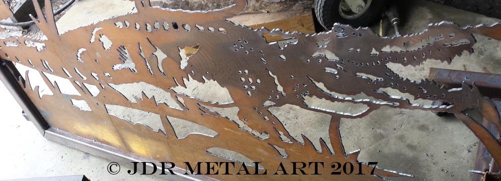 driveway gate alligator silhouette by jdr metal art 2017