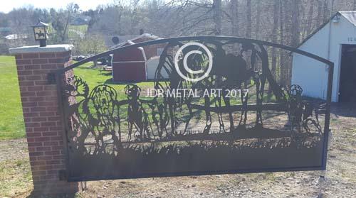 horse dog gate design by jdr metal art