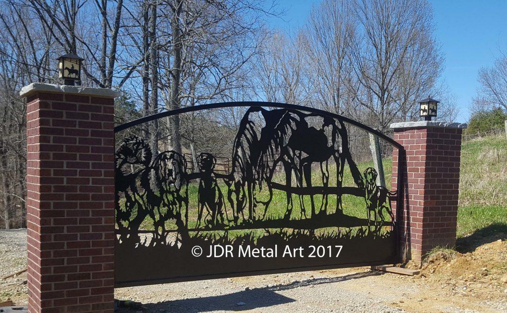 Custom Driveway Gates by JDR Metal Art - Home, Farm, Ranch & Estate