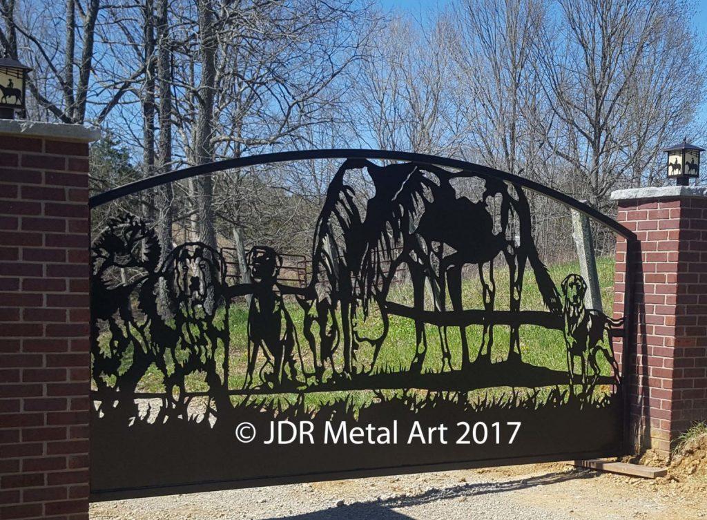 Custom Horse Bear Dog Gate Kentucky