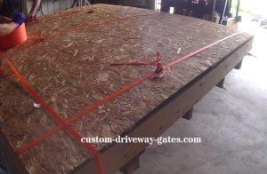 driveway gate free shipping