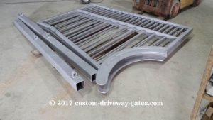 personalized driveway gates before powder coat jdr metal art 2017