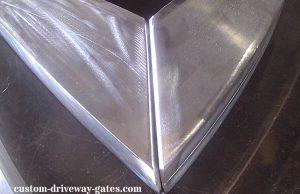 Aluminum driveway gate frame 2 x 4 rectangular tubing