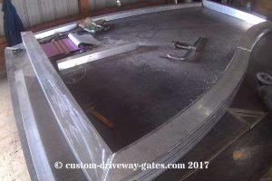 heavy duty aluminum driveway gate with rectangular tube frame