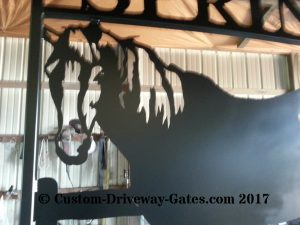 Horse themed western ranch gate by jdr metals