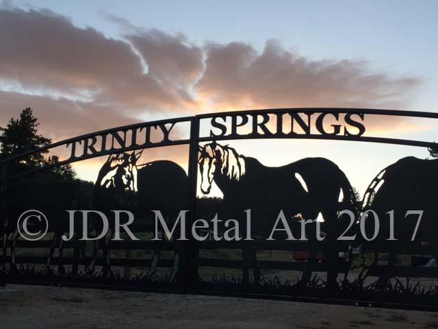 JDR Metal Art California Driveway Gates