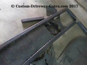 custom plasma cut gate lettering trinity springs ranch