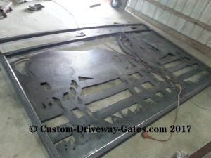custom welded drive way gate