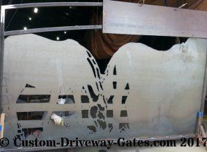 plasma cut ranch entry gates horse jdr metal art 2017