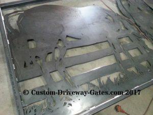 welded driveway gates plasma cut designs horses