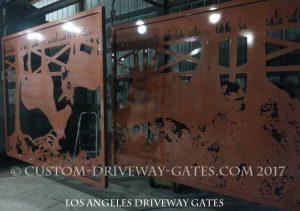 Copper Driveway Gates JDR Metal Art 2017 1