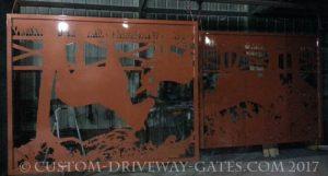 Custom copper gates by JDR Metal Art 2017