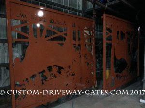 Los Angeles Copper Driveway Gates 2017 JDR Metal Art