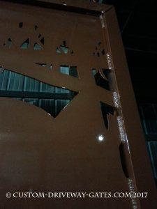 copper welded driveway gate by jdr metal art 2017