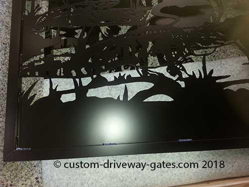 Alligator Metal Art Driveway Gate 2018
