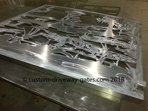Aluminum custom driveway gates Palm Beach Florida