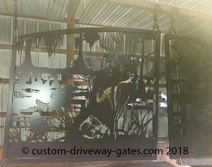 Powder coated aluminum driveway gates Florida