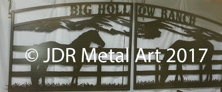 Ranch Driveway Gates Horse Mountain Lettering JDR 2017
