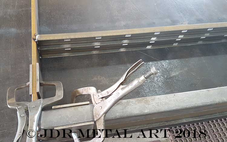 Fabricating boat driveway gate steel pickets channel